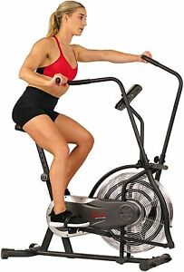 Sunny Health & Fitness Zephyr Air Bike, Fan Exercise Bike with Unlimited