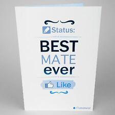 Cumpleaños tarjeta de saludos-Mejor Mate nunca Funny-Blue Foil-ah5009