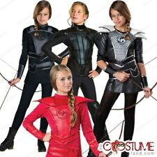 Katniss Costume Huntress Kids Hunger Games Warrior Halloween Tween Girls Hooded