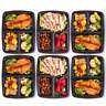 Meal Prep Food Containers BPA Free Lunch Box With Lids Reusable Microwavable 10