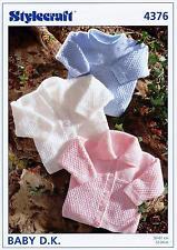 Stylecraft 4376 Knitting Pattern Baby Cardigans and Sweater in Wondersoft DK