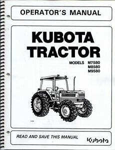 Kubota m7580 m8580 m9580 Tractor  Operator's Manual ROPS 33960-99713*