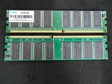 2 GB (2 x 1GB) EDGE 1GB-40 DDR DDR1 DIMM PC-3200 Desktop RAM Memory Tested LOT