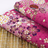 Japanese Style Pink Floral 100% Cotton Fabric Fat Quarter Quilting FQ #0132