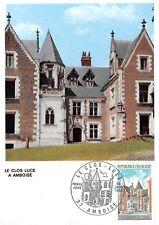 Card Maximum FDC France June 1973 Amboise the Enclosed Luce