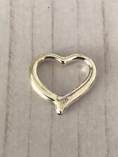 Sterling Silver Heart Connector Bead Charm Pendant