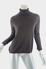 TSE Espresso 100% Pure Cashmere Mock Neck Relaxed Sweater - PRETTY - Sz S