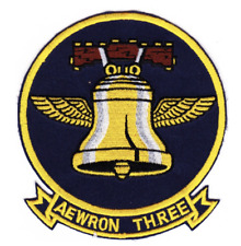 """5"""" NAVY VW-3 AEWRON EMBROIDERED PATCH"""