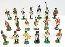 Rare, lot of 19 toy soldiers, vintage 54mm metal, Great Mix! Rose, Britains, et