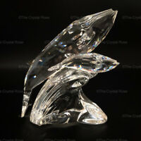 RARE Retired Swarovski Crystal SCS 1992 Care for Me Whales 164614 Mint Boxed COA