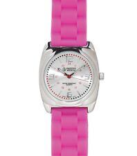 Medical Braided Band Fashion Wrist Watch Hot Pink Model 1778 Free Shipping