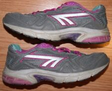 Hi-Tec Running Shoes 7 Womens Gray Blue Pink Athletic Seven Sneakers Euro 42.5