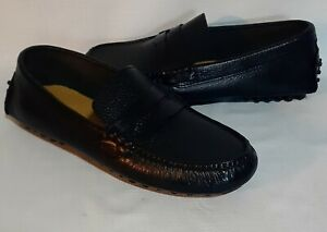 EUC-LN Cole Haan Air Grant Black Pebbled Leather Driving Moc Penny Loafers 7 M