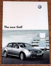 2004 VW GOLF Mk5 UK Launch Sales Brochure - GT TDI FSI, SE, S