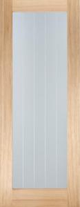 """78x30"""" Mexicano Oak Pattern 10 - Frosted Glazed Door (1981x762x35mm)"""