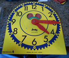 Vintage Large Wooden Original Judy Teaching Time Clock J209040