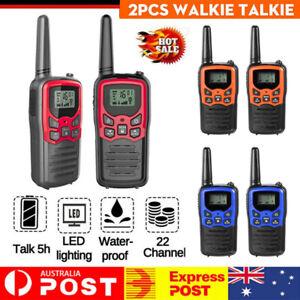 2 Pack Walkie Talkie Handheld Radio 22 Channels 10 km UHF 400-470 MHz Dual Band