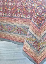 "Anokhi Autumn Colors-Red, Rectangular Tablecloth, 90""x108"", 100% Cotton"