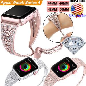 Bling Diamond Stainless Steel Bracelet Band Strap Apple Watch Series 6 5 4 3 2