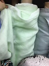 MINT GREEN 100% LINEN FABRIC (60 in.) Sold By The Yard