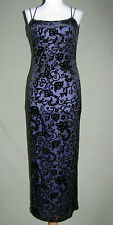 NWOT STEPPIN SEXY BODY PURPLE VELOUR FORMAL PROM BRIDAL PARTY DRESS GOWN S SMALL