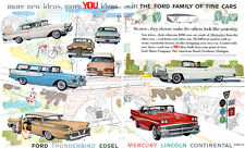 Ford Edsel Convertible Villager Continental Mark Iii Lincoln Premiere Landau '58