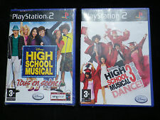 LOT 2 JEUX Sony PLAYSTATION 2 PS2 : HIGH SCHOOL MUSICAL 1 + 3 (neuf, env.suivi)