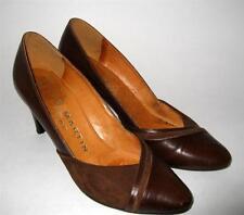 Vintage JB MARTIN Paris 5 45 Semelle Cuir Brown leather Suede Classic Pumps Heel