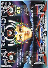 HARDCORE HEAVEN Rave Flyer Flyers A4 11/5/96 Sanctuary Milton Keynes PEZ art