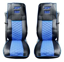 Eco Leather Seat Covers for DAF XF 106 Black/Blue color
