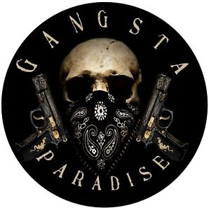 Gangster Paradise Sticker Decal 105 Mill