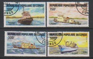 Congo - 1984 Transport, Ships set - F/U - SG 958/61 (a)
