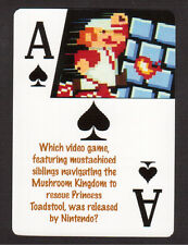 Super Mario Brothers Nintendo Video Game Neat Playing Card #5Y8