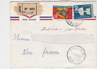 Rep Du Senegal 1969 Airmail Regd Kaolack Cancels Multiple Stamps Cover Ref 32513
