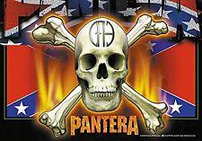 PANTERA - Flag & Skull - Flagge Posterfahne Textilposter Flag - Neu #920031