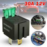 4 Pin 12V 30A Car Relay Normally Open Contact Automotive Fused On/Off w/