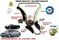 für Chrysler Sebring 2.0i 2.4 2007- > Steuerkette + Ölpumpe Kettenspanner Satz