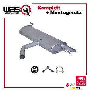 Endschalldämpfer Auspuff VW Golf V Golf V Plus 1.6i & 1.6FSi 2003-2012 +Anbaukit
