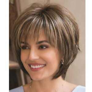 Women Real Natural Short Straight Wavy Curly Pixie Cut BOB Wig Hair Wigs Party