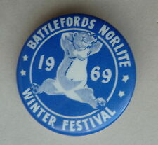 Battlefords Norlite Winter Festival 1969 Lapel Souvenir Pin Button