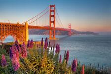 New Day Begins Golden Gate Bridge San Francisco Photo Art Print Poster 18x12