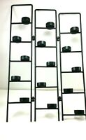 """Black Wrought Iron Tea light Candle Holder Folding Holds 15 Candles 22"""" Tall"""