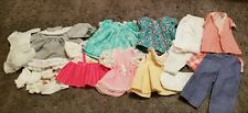 Vintage Doll Clothes Lot 20 Pc Med-Sm Doll Dresses,Tops Most Handmade #11
