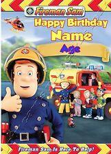 - Fireman Sam-Ideal para el hijo nieto personalizado de tarjeta de cumpleaños para niños