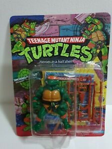 PLAYMATES TMNT TARTARUGHE NINJA DONATELLO 1986 SEALED MOC UNPUNCHED