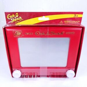 """Ohio Art Classic Etch A Sketch Magic Screen Red White Knobs 8.75"""" New"""