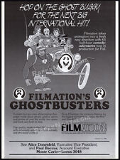 Filmation's GHOSTBUSTERS__Orig. 1986 Trade Print AD / animated TV series promo