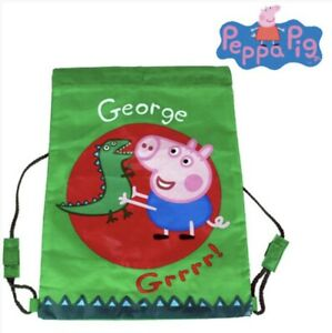 PEPPA PIG GEORGE TRAINER BAG SHOES SPORTS SCHOOL PE KIT BEDROOM TOYS HOLIDAYS