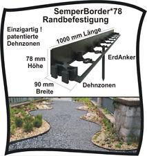 SemperBord78 20m Randbefestigung Rasenkante Beeteinfassung Randstein Rasenbord