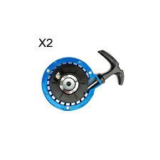 2 Mini Moto Blue Pull Start Pullstart 47cc 49cc Minimoto Quad Dirt Bike ATV